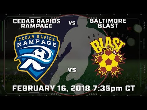 Cedar Rapids Rampage vs Baltimore Blast