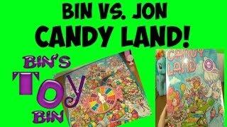 Bin Vs. Jon: Candy Land! Who Will Win? 2013 Edition W/ Pinkie Pie & Elsa? By Bin's Toy Bin
