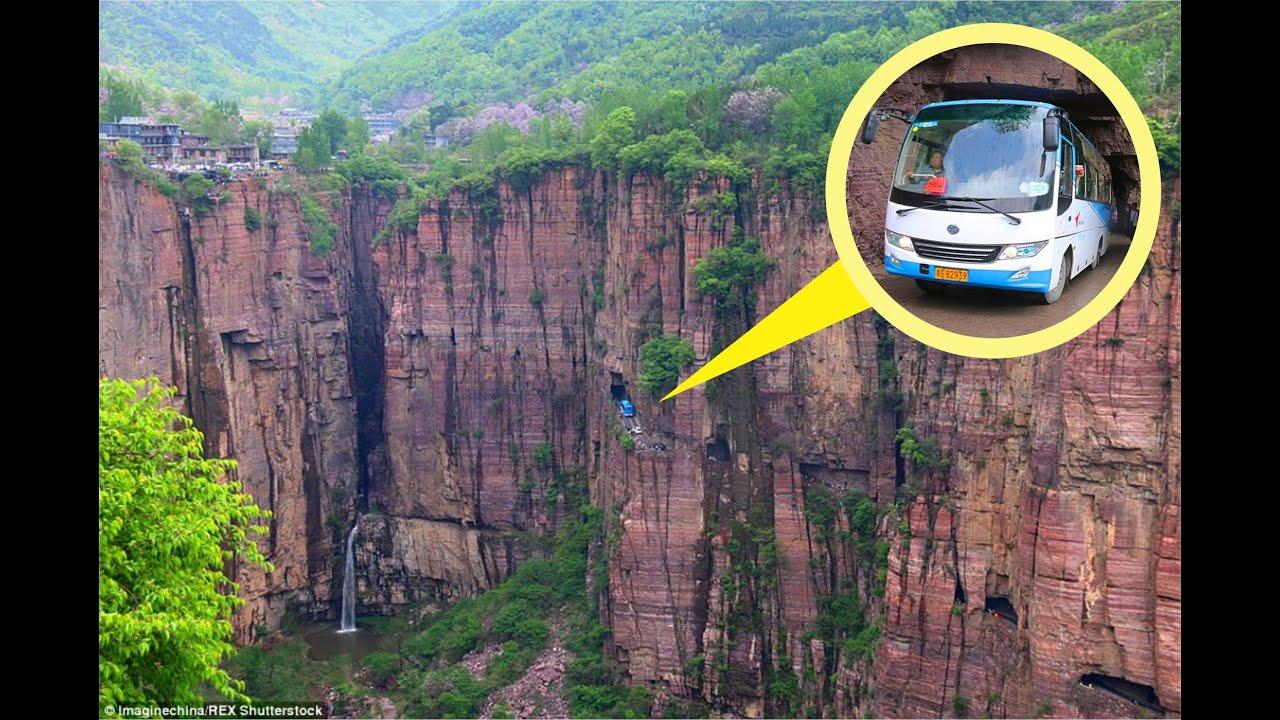 Guo Liang Cun Very Dangerous Road But Very Beautiful Place In China Youtube