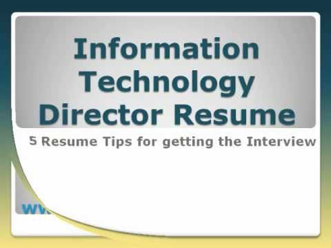 Information Technology Director Resume - YouTube