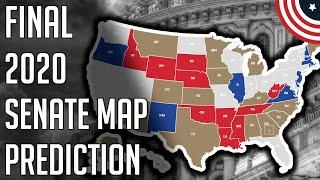 My Final 2020 Senate Elections Predictions Map Projection - 2020 Senate Map Predictions