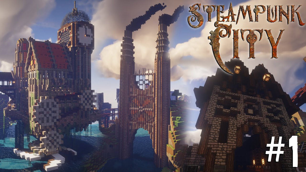 Minecraft Steampunk City - Let's Build It! #1 [Warehouses ...