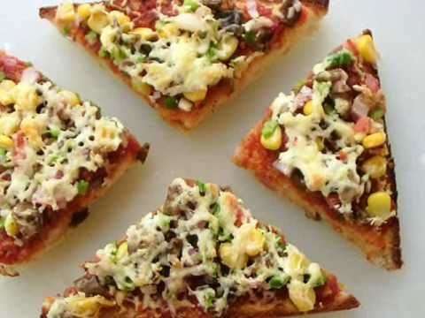 Bread pizza home made indian food recipes youtube bread pizza home made indian food recipes forumfinder
