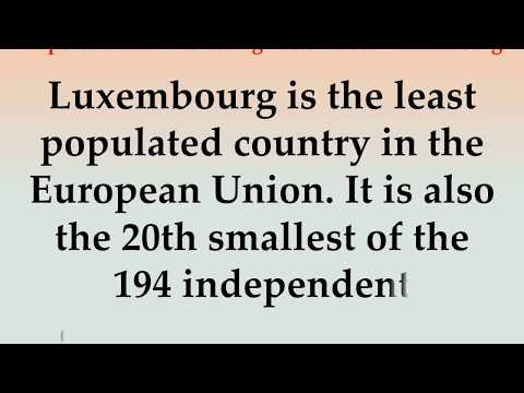 Important and Interesting Facts About Luxembourg