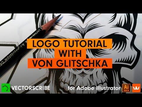 Illustrator Logo Tutorial: Von Glitschka. Why use the VectorScribe v3 Plug-in fro Illustrator?