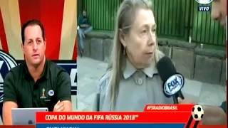 Интервью бразильского корреспондента перед матчем Россия — Саудовская Аравия с жительницей Москвы