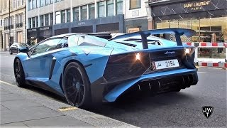 Supercars in London (Part 32) - Baby Blue Aventador SV, Turqoise M4 & More!