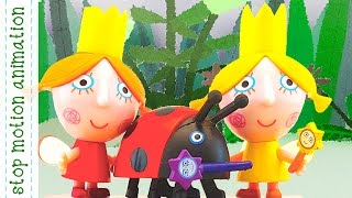4 Daisy & Poppy's Magic Fun Trail Ben and Holly Toys Characters 3d Figures Stop Motion Animation