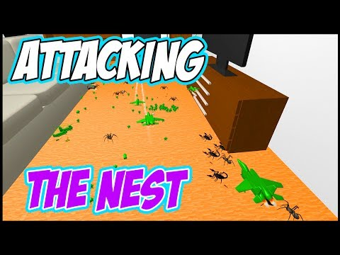 Home Wars Gameplay: ATTACK THE NEST! CUSTOM BATTLES IN SANDBOX MODE - Let's Play Home Wars Gameplay