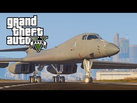 GTA V B-1B Lancer supersonic bomber with variable wings (MOD)