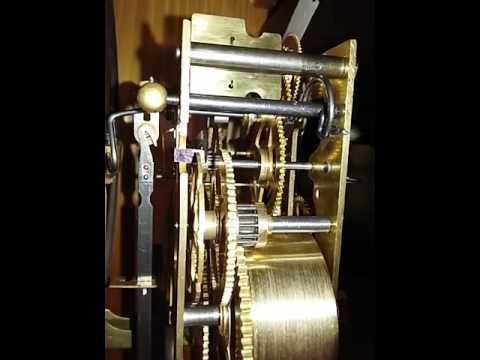 Junghans Wall Clock Movement Inside Gong Chime Mechanism
