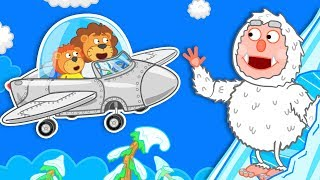 Lion Family 🛰️ Journey To The Center Of The Earth - Yeti Cartoon For Kids
