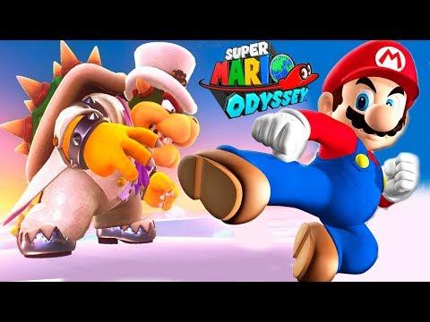 СУПЕР МАРИО ОДИССЕЙ #9 БОСС БОУЗЕР Прохождение игры на СПТВ Super Mario Odyssey BOSS BOWSER