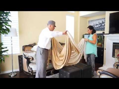 Reversible Drapes And Swags - Curtains To Match Your Mood | Galaxy-Design Video #143