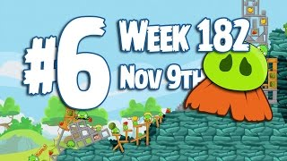 Angry Birds Friends Moustache Pig Tournament Level 6 Week 182 Walkthrough | November 9th 2015
