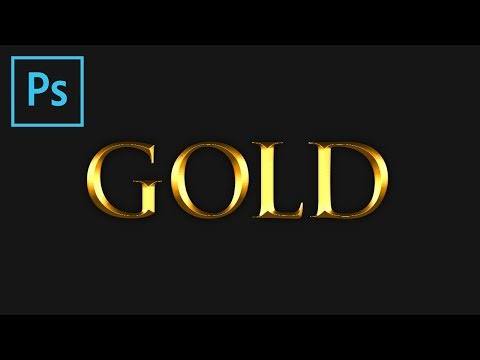 Photoshop: Gold Text Effect (Tutorial)