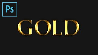 فوتوشوب: الذهب تأثير النص (البرنامج التعليمي)
