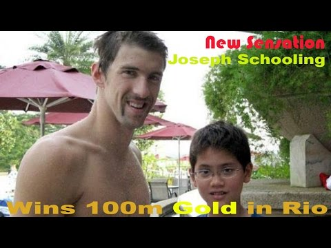 Joseph Schooling New 100m Sensation Rare Pics with Michael Phelps