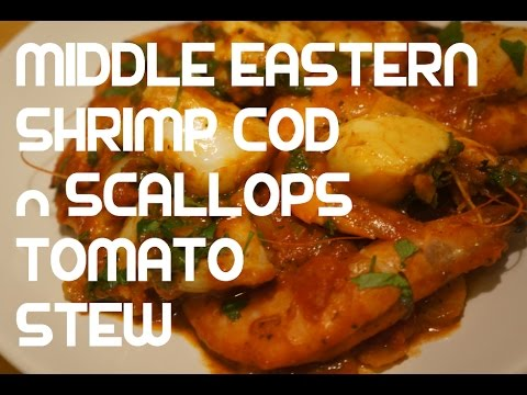 Fish Stew Recipe - Seafood Stew - Arab Fish - Arabic Fish Stew - Scallops Shrimp - Cod - Arabic