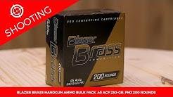 Blazer Brass Handgun Ammo Bulk Pack .45 ACP 230-gr. FMJ 200 Rounds