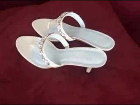 Sexy T-cut Wedding Shoes Sandal of Silk Satin