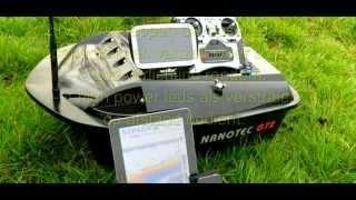 voerboot nanotec gt2 met vexilar wifi dieptemeter