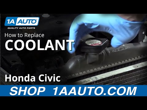 How to Drain and Refill Antifreeze 01-05 Honda Civic