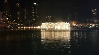 musical fountain in burj khalifa with arabic song ...