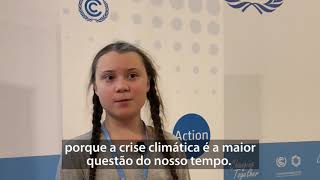 Greta Thunberg explica a importância da COP24