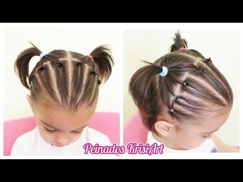 Peinados Para Ninas Peinado Facil Con Coletas Para Cabello Corto