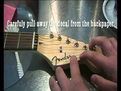 Guitar waterslide headstock decal