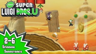 New Super Luigi U - 2-6: Spinning Sandstones