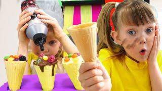 Настя и игры с мороженным для детей