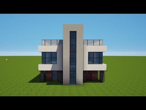 modernes minecraft haus bauen tutorial haus 65 youtube. Black Bedroom Furniture Sets. Home Design Ideas