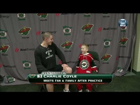 Young fan gets his wish to meet Charlie Coyle