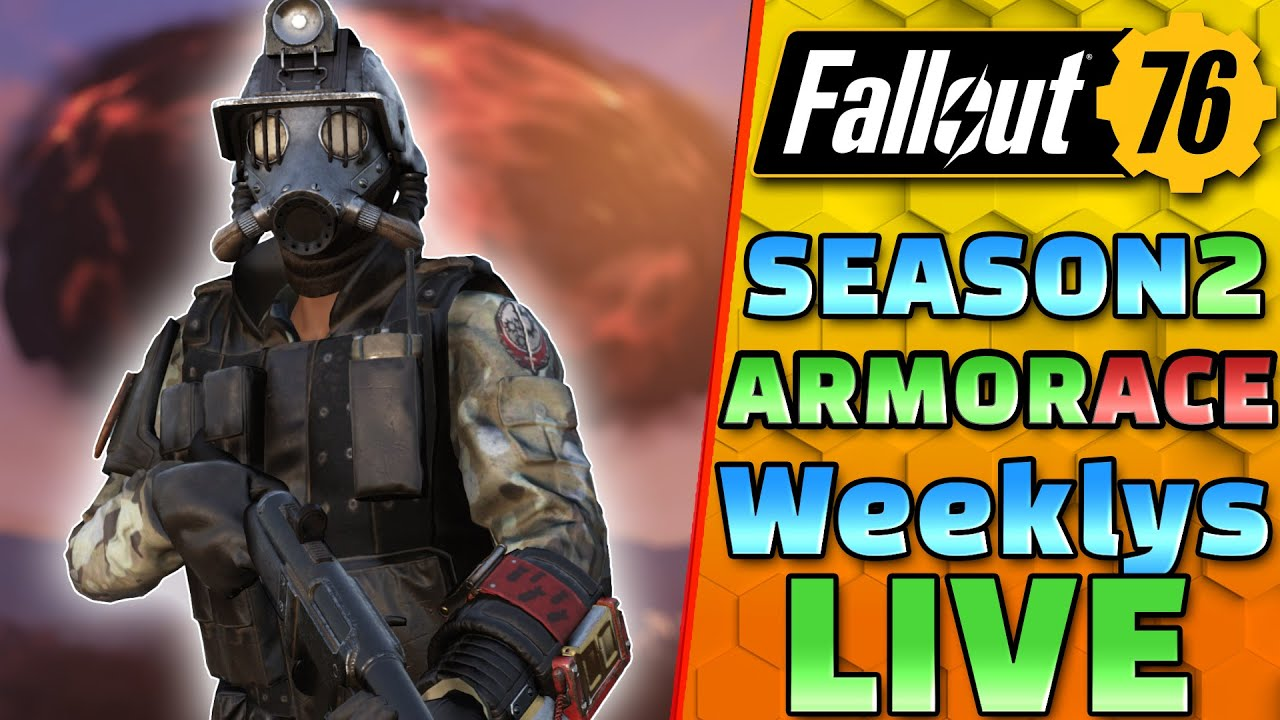 """New Hotfix & New Weeklys! - Season 2 """"Armor Ace"""" - FALLOUT 76 - 1440P 60 FPS Live"""