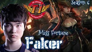 SKT T1 Faker MISS FORTUNE ADC vs Ezreal - Patch 5.23 KR | League of Legends