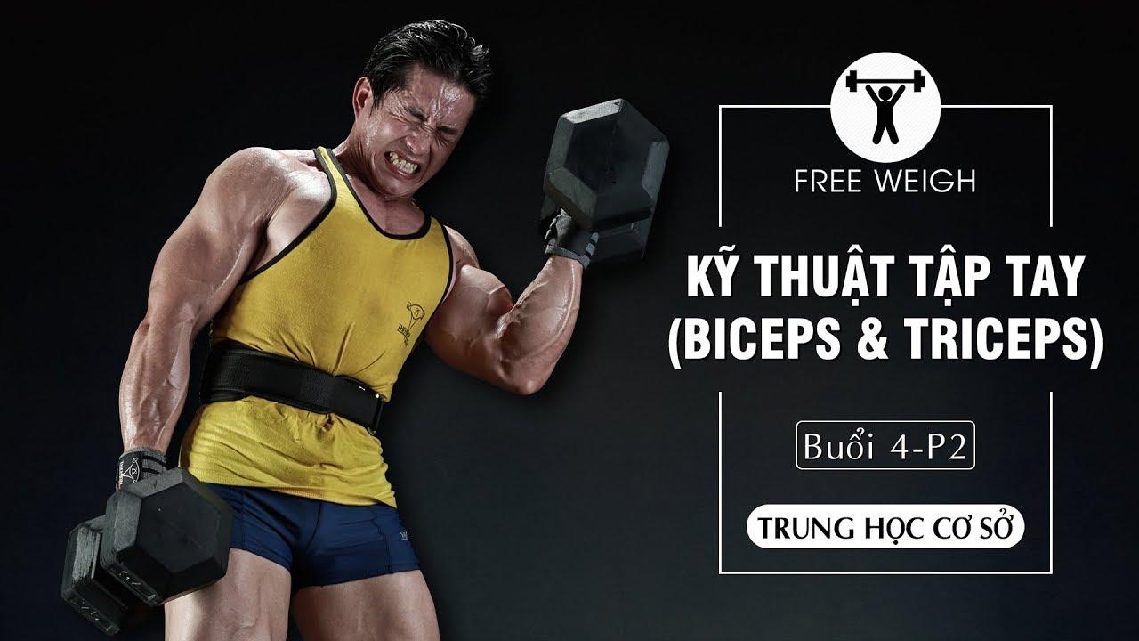 Kỹ Thuật Tập Tay (Biceps & Triceps) căn bản với tạ | THCS