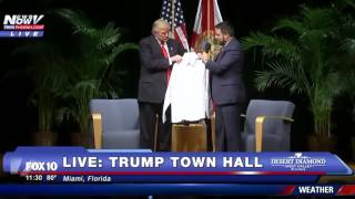 NEW SHIRT ALERT: Trump Receives Authentic Cuban Shirt In Miami Florida