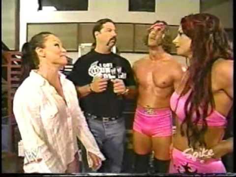 2003 08 31 Heat   Victoria, Ivory, Steven Richards, and Al Snow Backstage