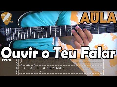 Solo Ouvir O Teu Falar Discopraise - Aula De Guitarra (tutorial Iniciantes)