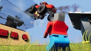 MEGA LEGO STUNT SHOW IN LEGO CITY! - Lego Brick Rigs Gameplay Roleplay