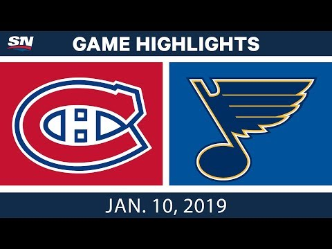 NHL Highlights | Canadiens vs. Blues - Jan. 10, 2019