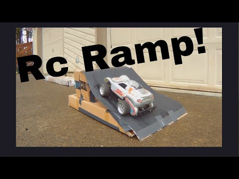 How to make a rc car ramp out of cardboard!