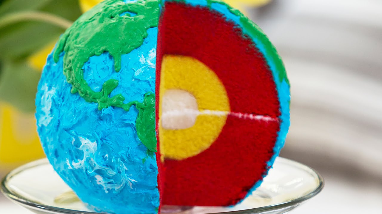 Layered Earth Cake Nerdy Nummies Youtube