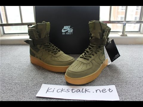 AUTHENTIC NIKE SPECIAL FIELD AIR FORCE 1 ARMY GREEN FROM KICKSTALK.NET