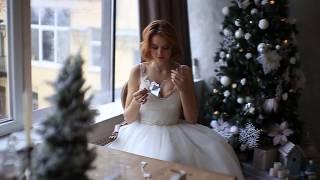 съёмка девушки в свадебном платье