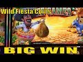 ★BIG WIN !!☆Wild Fiesta'Coins Slot machine (Aristocrat) Live Play & Bonus games $3.00 Bet ☆彡栗スロット