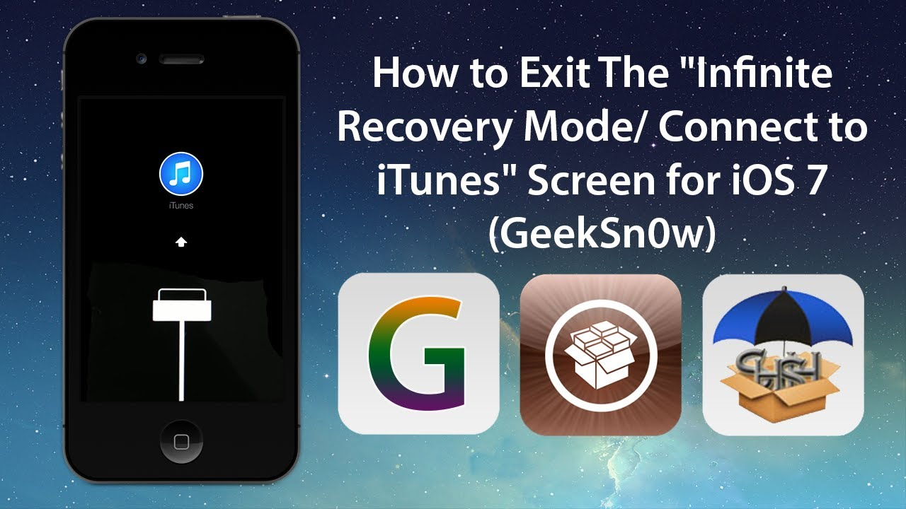 "How to Exit The ""Infinite Recovery Mode/ Connect to iTunes ..."