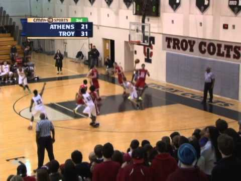 CMNtv Sports - Boys Basketball - Athens vs Troy - Feb 19, 2014